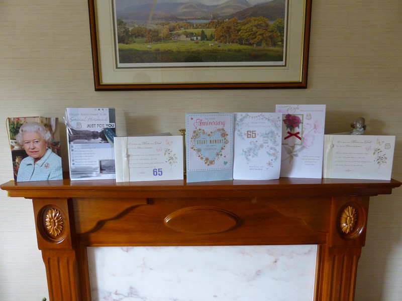 Some of the lovely cards, including one from HRH!