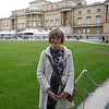 Pauline outside Buckingham Palace after tour inside