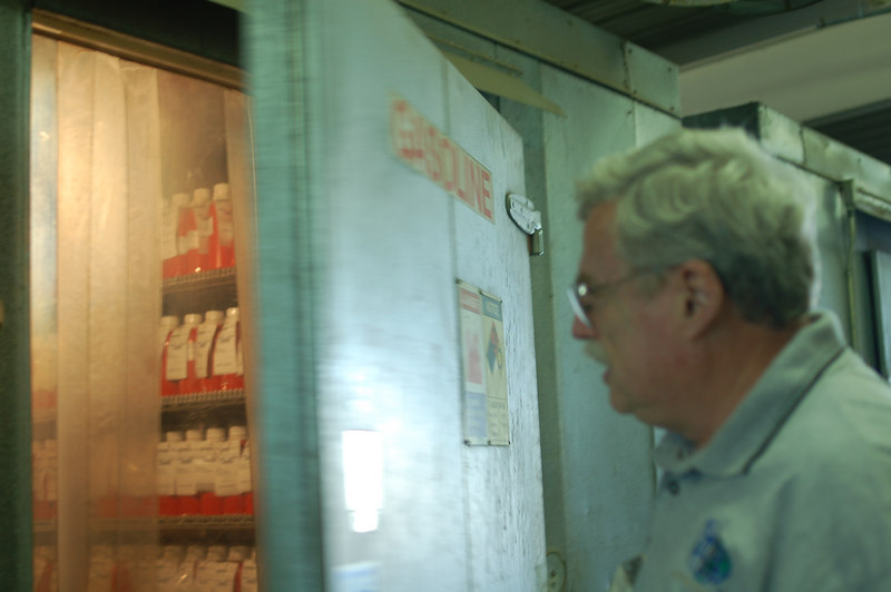 after we visited the tag center, dad walked me into a series of giant refrigerators for storing gasoline samples. this was an awesome experience, because it was like a meat locker but with more opportunity for explosions.