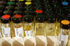 some of the gasoline is stored in vials.