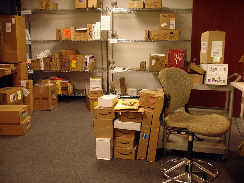 finally, i can say i've worked in a mail room. (and i liked it. packages rule! delivering stuff is fun! bonus...no office politics -- at least none you're aware of. ignorance is bliss!!)