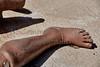Fire Burned Foot Leg Training EMS Test Dummy