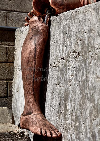 Fire Burned Leg Foot Training EMS Test Dummy