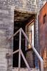 Building burn damage by fire EMS training