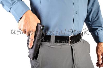 Law Enforcement Professional Man with Firearm Weapon