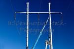 High voltage transmission line tower men