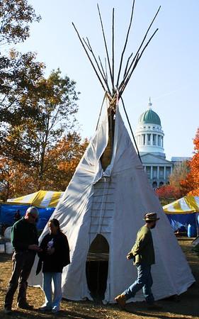 11.11.09 Tipi Raising at Occupy Augusta