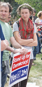 Occupy Boulder demonstration, 10/15/11.