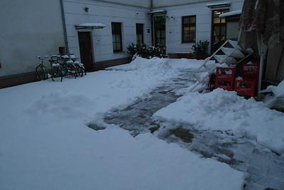 Snow in Bratislava, 30 Jan 2015