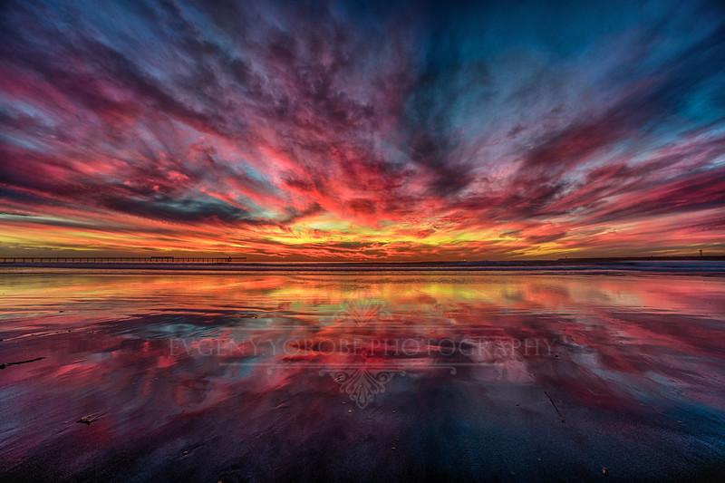Dog Beach Reflections Sunset