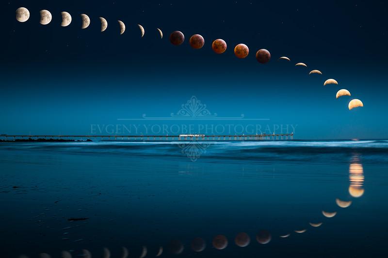 Blood Moon Timelapse Composite II