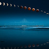 Blood Moon Timelapse Composite II