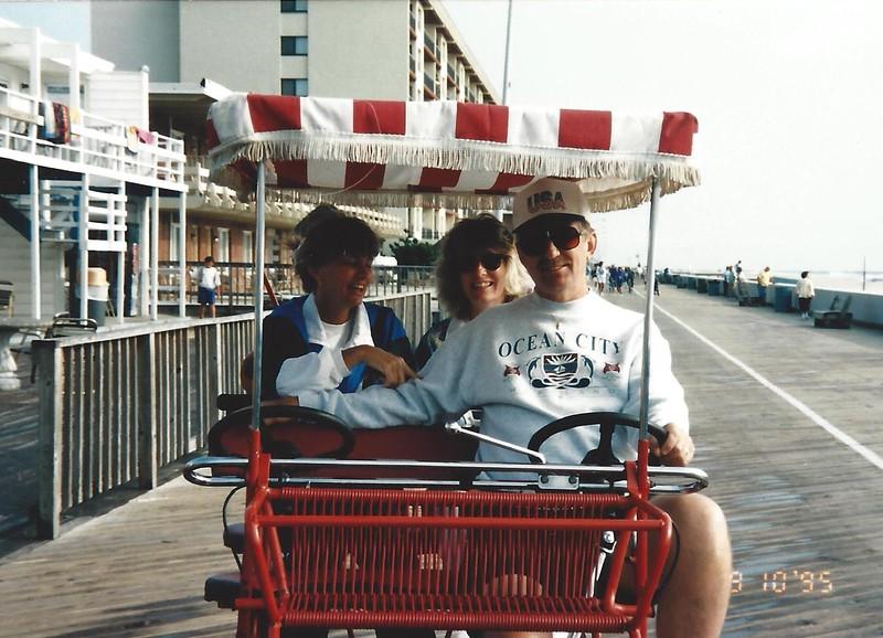 erna, kay, bruz on boardwalk