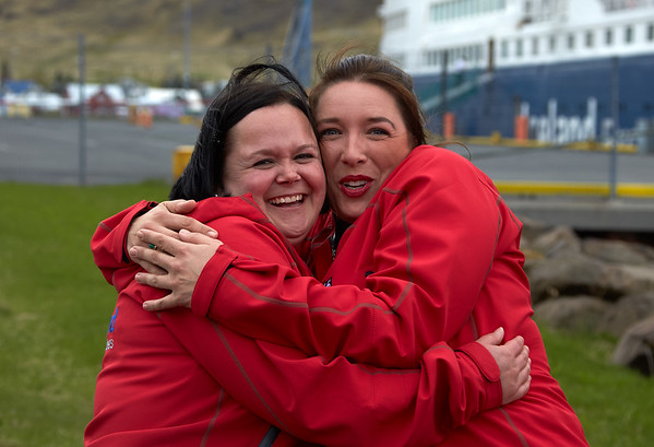 Ocean Diamond Iceland Pro Cruises Expeditionsteam  Svenja Laukart Frederika Olms