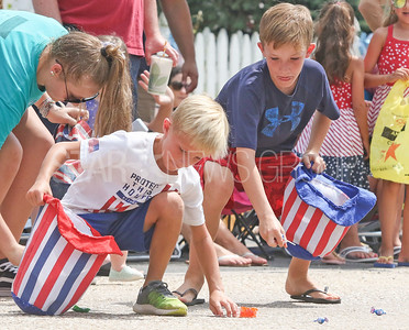 [on left] Lance and Jack Dobrosielski, from Maryland. Fourth of July/150th anniversary parade in Ocean Grove, NJ on 7/6/19. [DANIELLA HEMINGHAUS | THE COAST STAR]