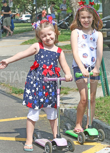 [L-R]: Jessica and Samantha Garrison, from Eatontown. Fourth of July/150th anniversary parade in Ocean Grove, NJ on 7/6/19. [DANIELLA HEMINGHAUS | THE COAST STAR]