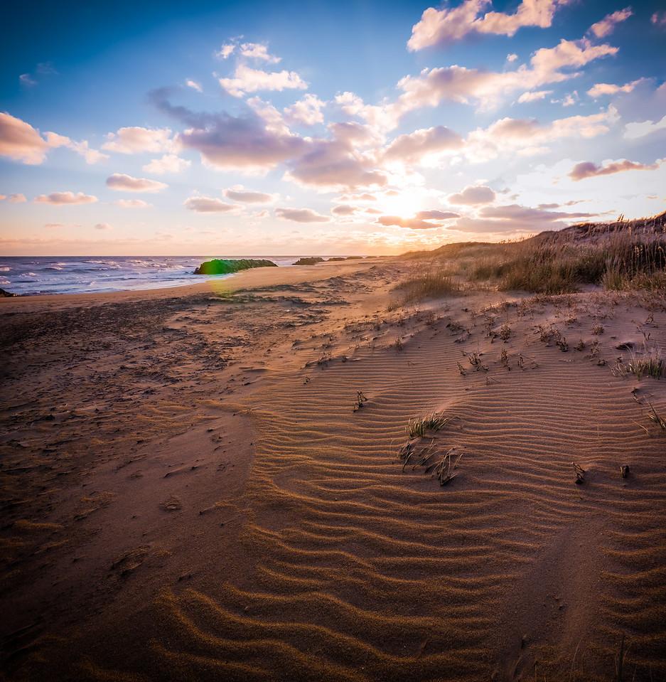 Sunrise and Sand Ripples