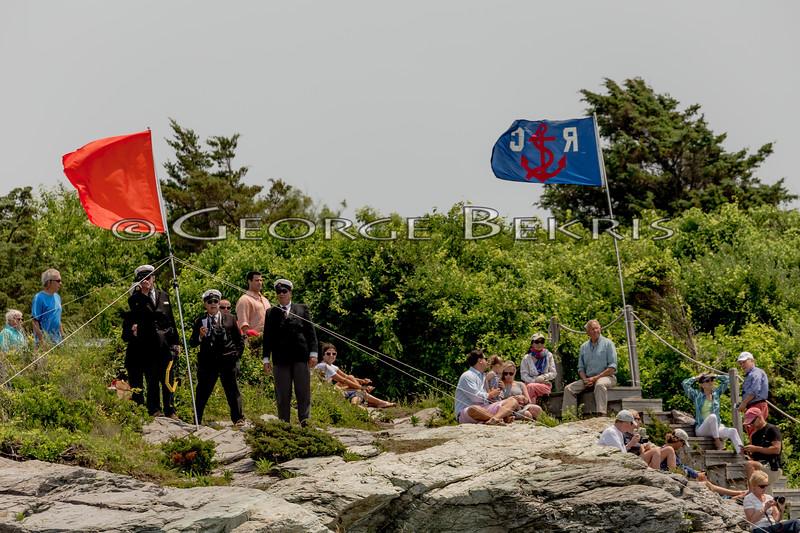 Transatlantic Race Committee at Castle Hill Light