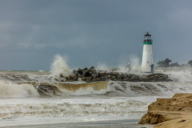 Stormy Harbor Jetty 2