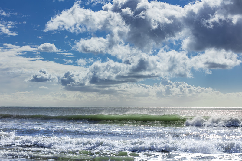 Monterey Bay Waves and Clouds 1