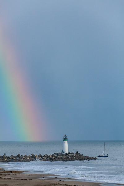 Rainbow Over Lighthouse 1