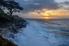 West Cliff Splashing Surf Sunrise