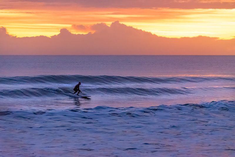 Sunrise Surfing.