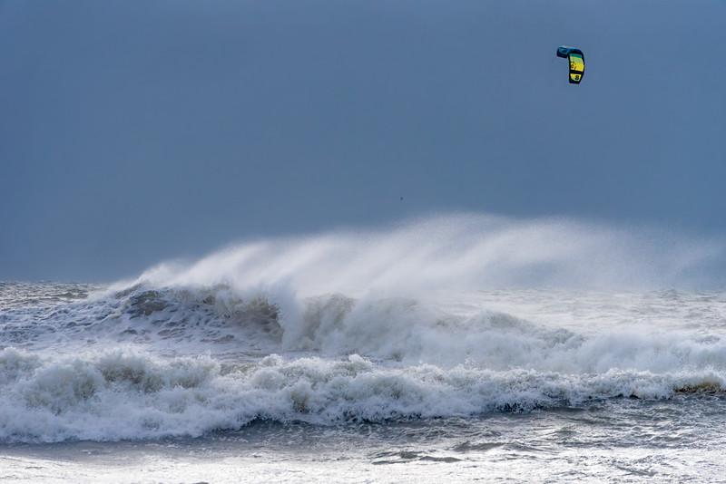 Kitesurfing Tropical Storm Isaias.