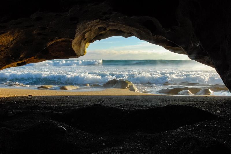 Beach Cave Sunrise.