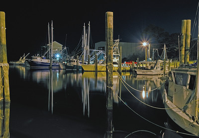 A night at the Ocean Springs marina. I have a special attraction to shooting photographs late in the evening and after dark. I find it very challenging and it gives me a lot of satisfaction to be able to capture an image like this one.