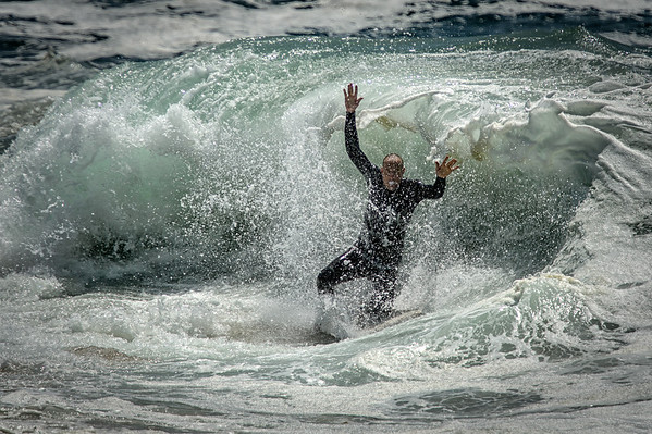 Body Boarder haven some fun at the Newport Wedge.