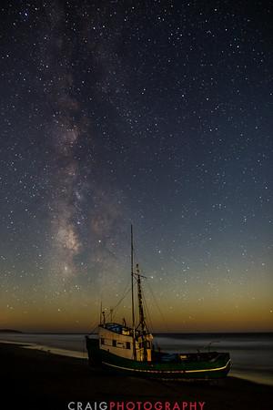 Salmon Creek Shipwreck and stars #3