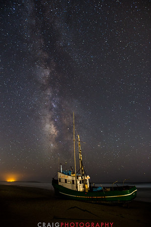 Salmon Creek Shipwreck and stars #2