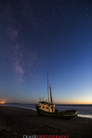 Salmon Creek Shipwreck and stars #1
