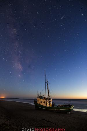 Salmon Creek Shipwreck and stars #1