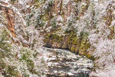 Sacramento River with Fresh Snow