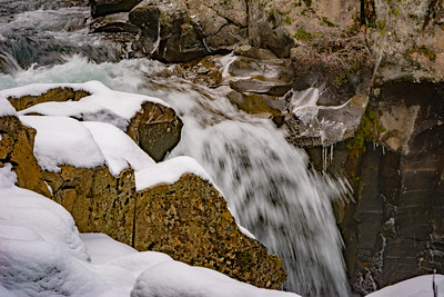 Small Waterfall with snow