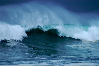 huge surf, waves, winter storm, near Monterey, California, 02-2006