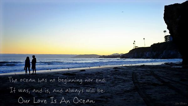 Our love is an ocean.