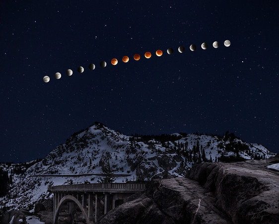 Lunar Eclipse Over Donner Peak
