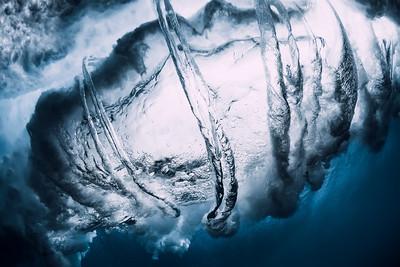 Ocean wave underwater. Underwater ocean textures