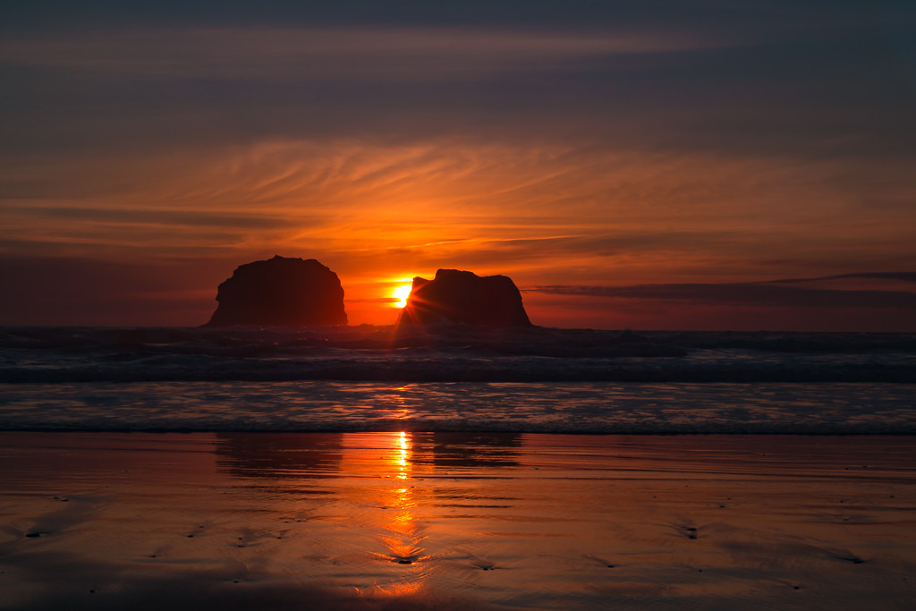 Twin Rocks Sunset