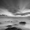 Streaking Clouds at Strand Beach - Monochrome