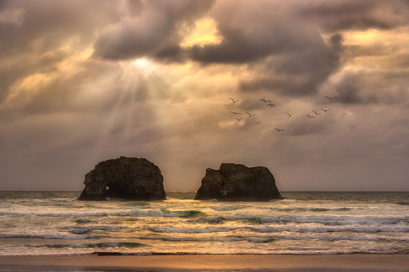 Sunbreak at Twin Rocks