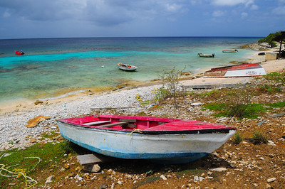 Fishing Boats in Bonaire, N.A.