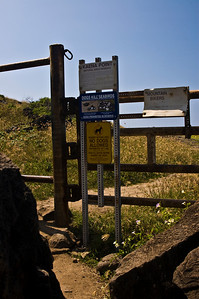 Gate you'll walk through to enter the Natural Area Reserve  Ka'ena Point, Northwest tip of O'ahu     March 2008