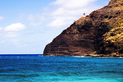Lighthouse, Makapuu Coastline, southeastern tip, Oahu