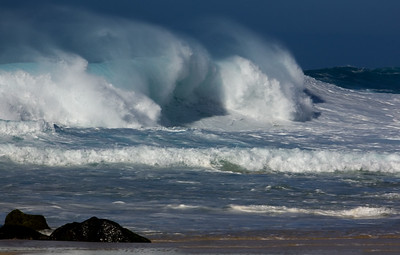 Waves off Rockpile North Shore Oahu, Hawaii