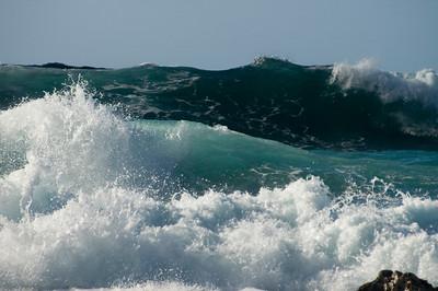 Rolling Turquoise Waves Ehukai Beach North Shore Oahu, Hawaii January 2007