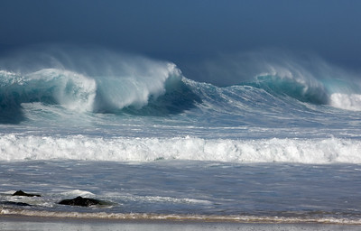 Waves on the North Shore Ehukai Beach Oahu, Hawaii
